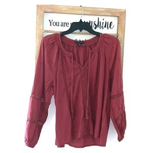 American Eagle Burgundy Blouse